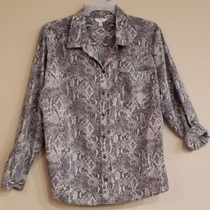 NWT Time And True SNAKESKIN Print Top 22 3X